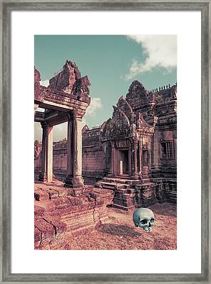 Framed Print featuring the photograph Cambodian Blue by Joseph Westrupp