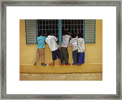 Cambodian School Children Framed Print
