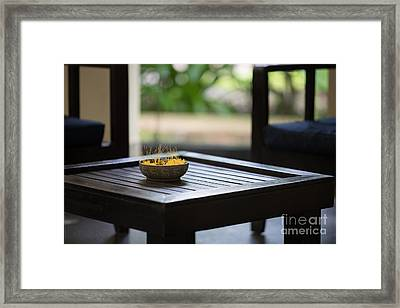 Cambodian Sojourn Flowers Framed Print by Mike Reid