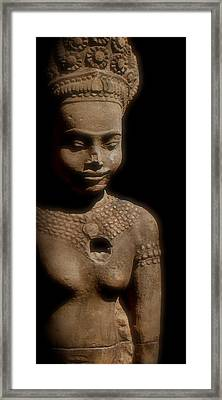 Cambodian Statue  Iv Framed Print by Louise Fahy