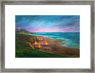 Cambria's 4th Of July Framed Print by Sally Seago