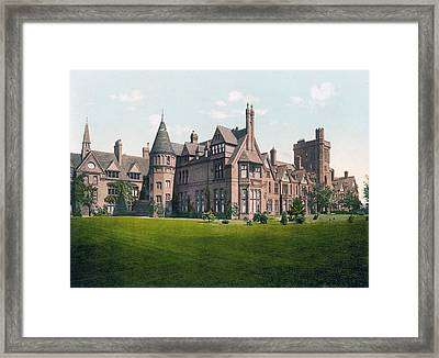 Cambridge - England - Girton College Framed Print