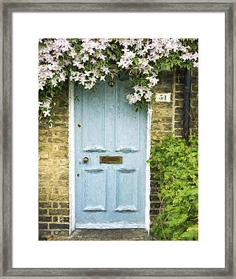 Cambridge Doorway 54 Painterly Effect Framed Print by Carol Leigh