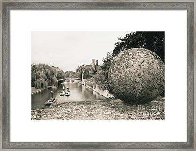 Cambridge Punting  Framed Print by Eden Baed