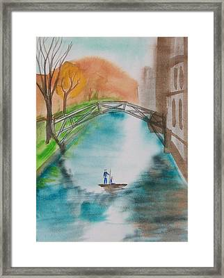 Cambridge River View Framed Print by Leo Boucher