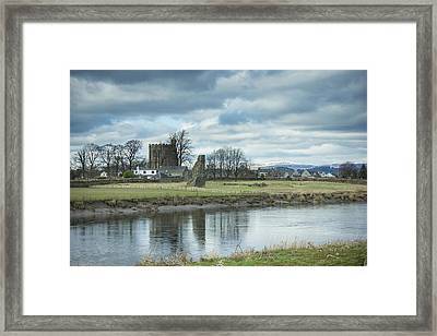 Cambuskenneth Abbey And The River Forth Framed Print