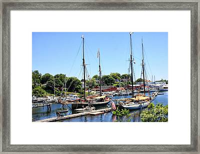 Camden Harbor #2 Framed Print by Marcia Lee Jones