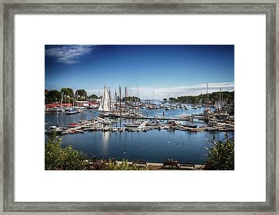 Camden Maine Framed Print by John Haldane