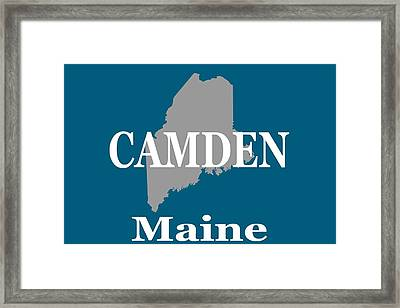 Framed Print featuring the photograph Camden Maine State City And Town Pride  by Keith Webber Jr