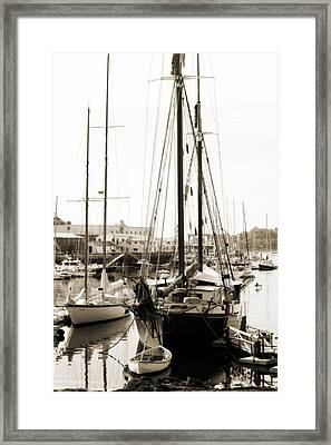 Framed Print featuring the photograph Camden Ships by Linda Olsen