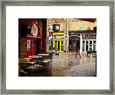 Camden Stables Market Framed Print by Rae Tucker