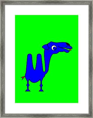 Camel Framed Print by Asbjorn Lonvig