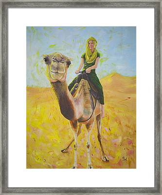 Camel At Work Framed Print