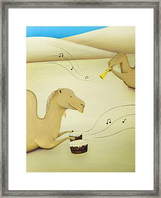 Camel Band Framed Print by Lael Borduin
