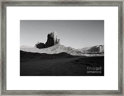 Camel Butte In Monument Valley Utah Framed Print by Julia Hiebaum