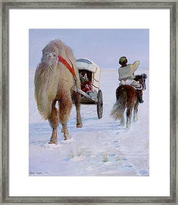 Camel Car Framed Print