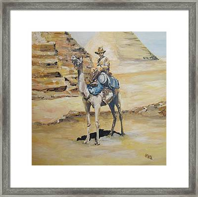 Camel Corp At Ease Framed Print by Leonie Bell