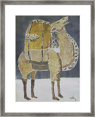 Camel Facing Right Framed Print