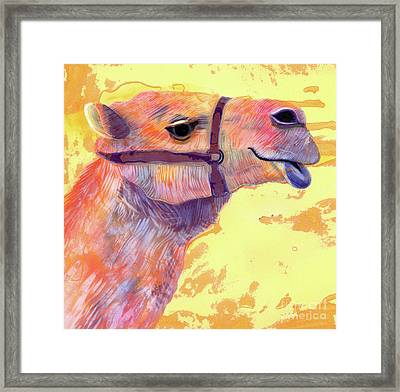 Camel Framed Print by Jane Tattersfield