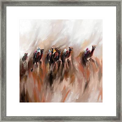 Camel Race 1 667 2 Framed Print