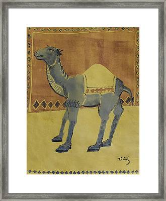 Camel With Diamonds Framed Print
