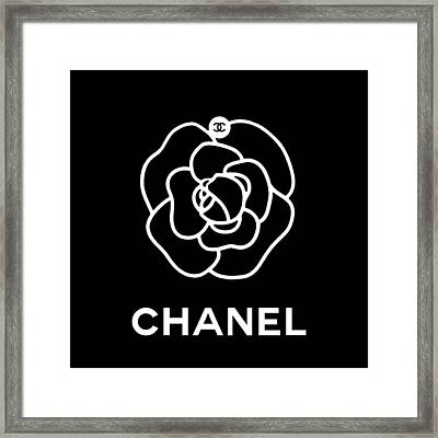 Camellia Chanel Framed Print by Tres Chic