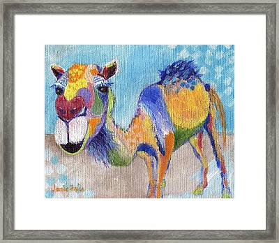 Framed Print featuring the painting Camelorful by Jamie Frier