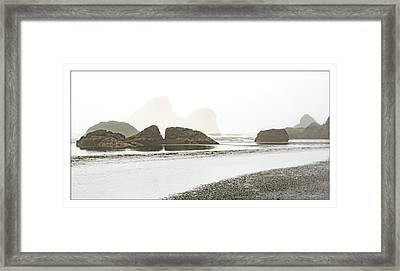 Camel Rock From Moonstone Beach Framed Print