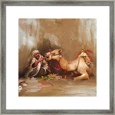 Camels And Desert 12 Framed Print by Mahnoor Shah