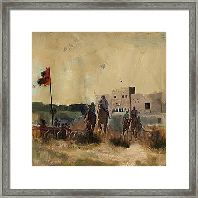 Camels And Desert 31 Framed Print