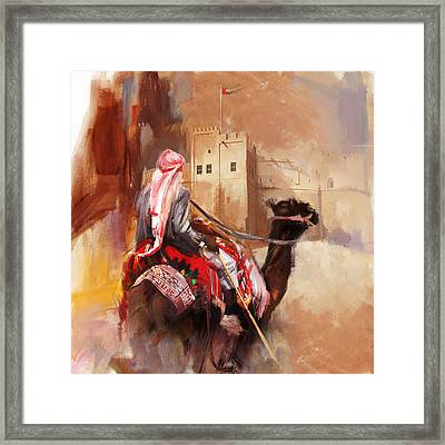 Camels And Desert 32 Framed Print