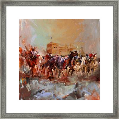 Camels And Desert 37 Framed Print