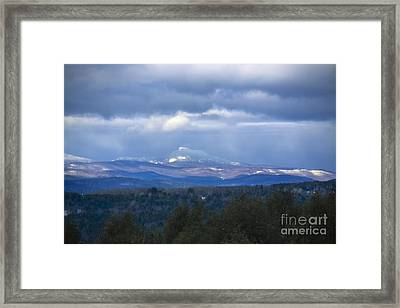 Camel's Hump Mountain  Framed Print by Diane Diederich