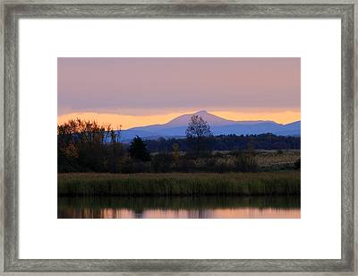Camel's Hump Mountain From Dead Creek Framed Print