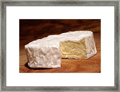 Camembert Cheese Framed Print