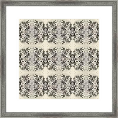 Cameo Mirror Image Framed Print