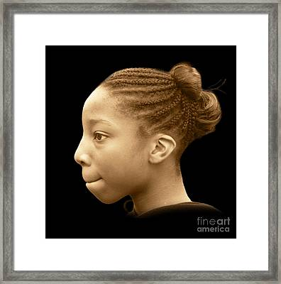 Cameo Of Thought Framed Print by Richard Gordon