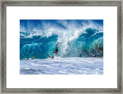 Camera's Action And Falling 1 Framed Print