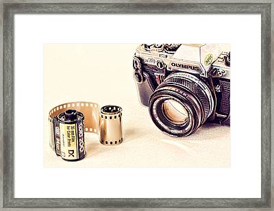Camera And Film Framed Print by Vicki McLead