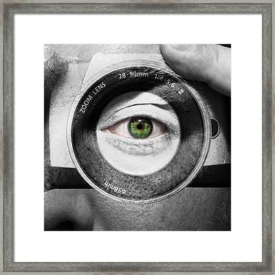 Camera Face Framed Print
