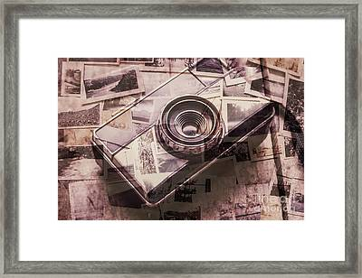 Camera Of A Vintage Double Exposure Framed Print by Jorgo Photography - Wall Art Gallery
