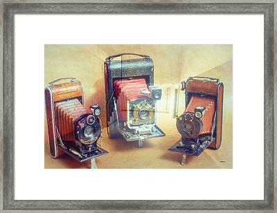 Antique Camera Store Front Framed Print