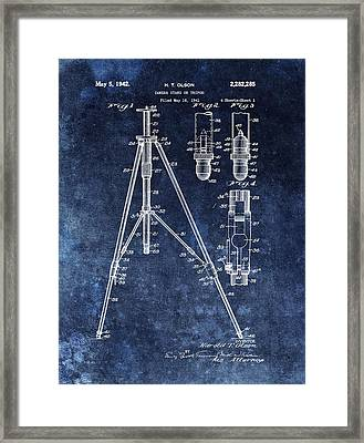 Camera Tripod Patent Framed Print