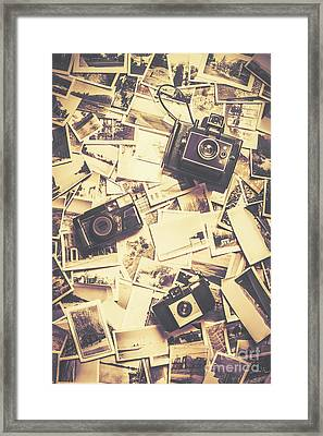 Cameras On A Visual Storyboard Framed Print