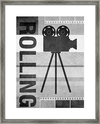 Cameras Rolling- Art By Linda Woods Framed Print