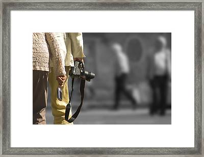Cameras Unholstered Framed Print by Hazy Apple
