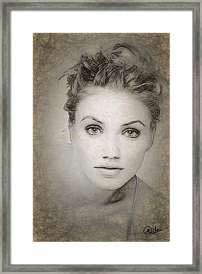Cameron Diaz Drawing Framed Print