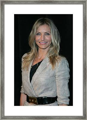 Cameron Diaz Wearing An Elizabeth & Framed Print by Everett
