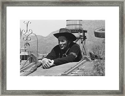 Cameron Mitchell The High Chaparral Set Old Tucson Arizona 1969 Framed Print by David Lee Guss