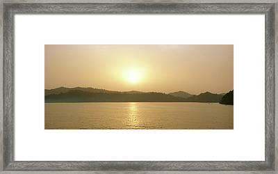 Cameroon Sunrise Africa Framed Print